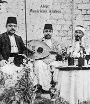 Musicians in Aleppo, 1915.